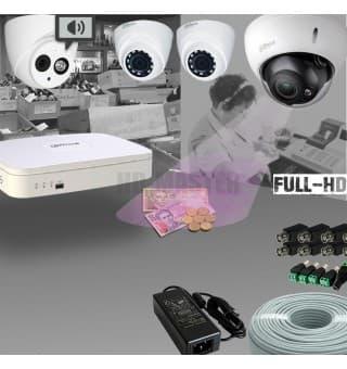 Комплект видеонаблюдения HDCVI 4-х канальный 720р KIT14 - для магазина